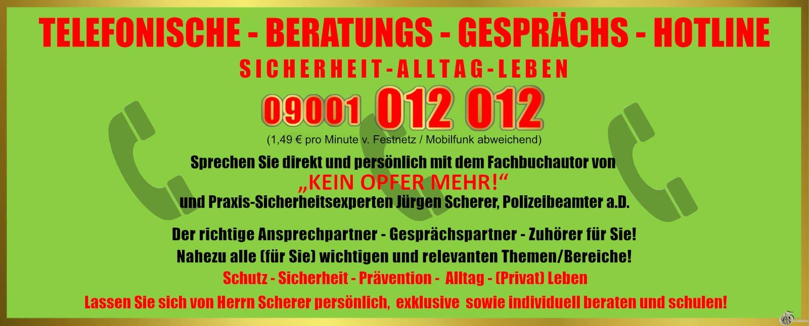 Telefonische Beratungshotline Scherer
